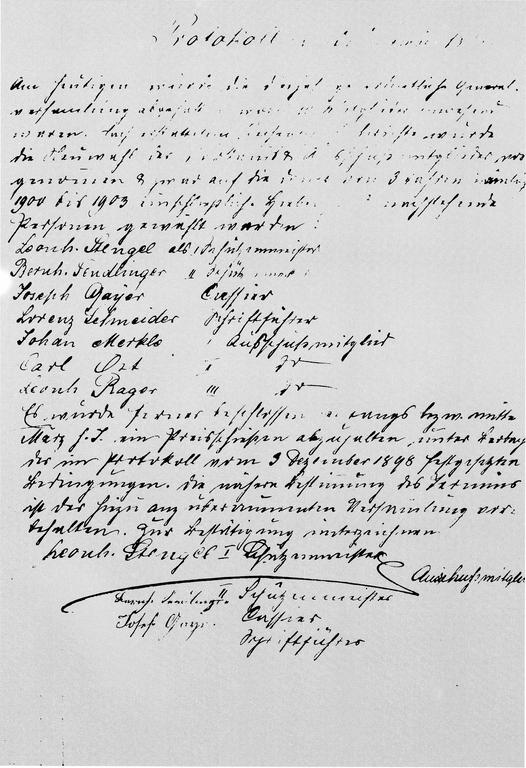 Protokoll der Gründung